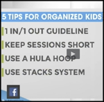 Streamlined Space, 5 Tips for Organized Kids