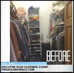 Streamlined Space, Declutter Your Closet
