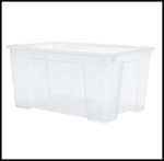 Streamlined Space, IKEA Clear Storage Bin