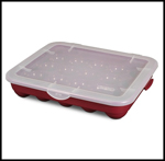 Streamlined Space, Red Sterilite Ornament Case